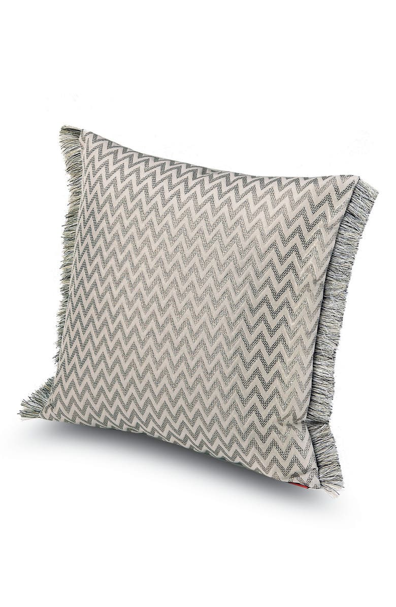 MISSONIHOME Stanford Metallic Chevron Accent Pillow, Main, color, 040