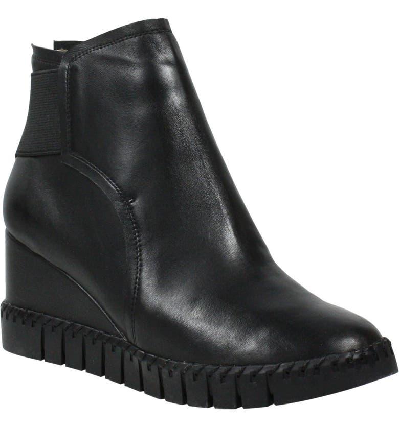 J. RENEÉ J. Renée Nagetta Wedge Sneaker, Main, color, BLACK LEATHER