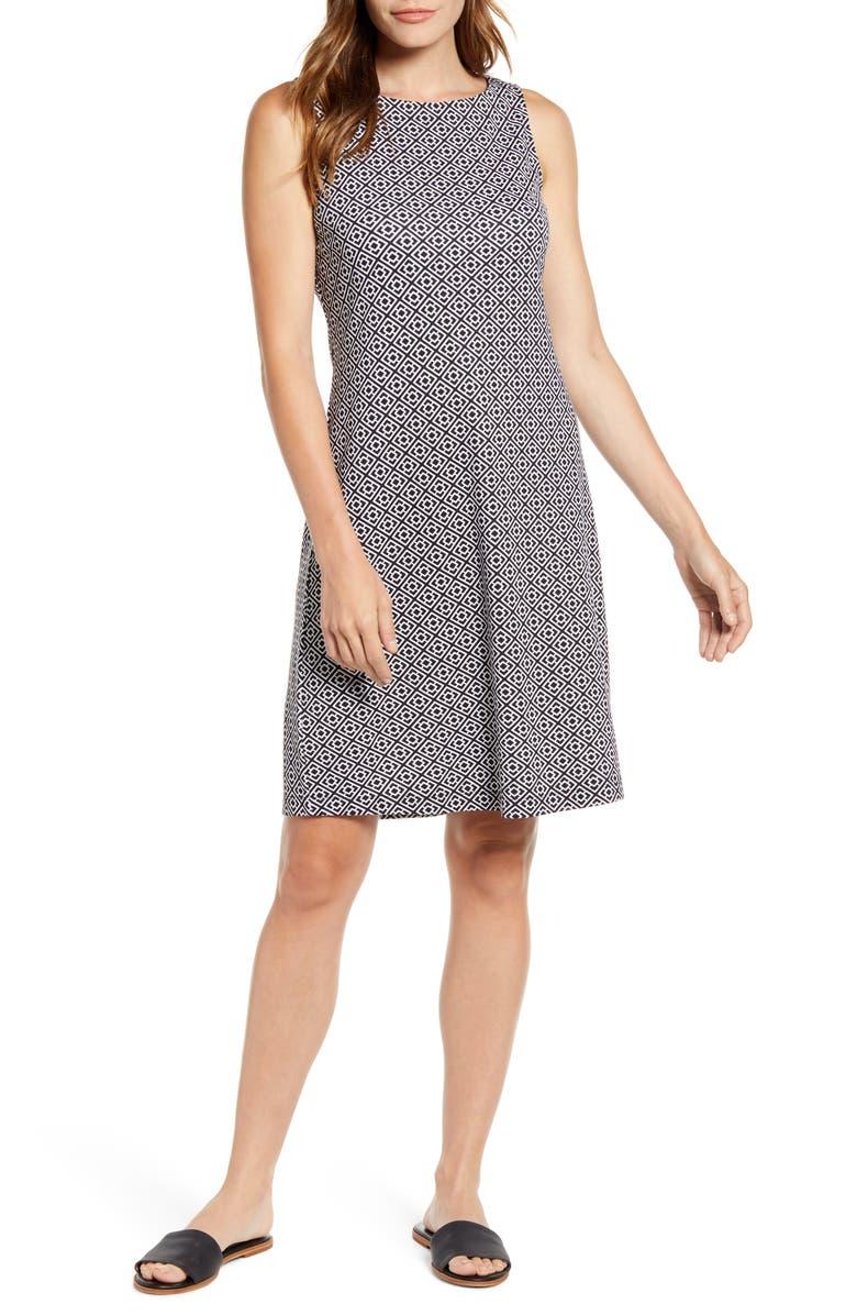 TOMMY BAHAMA Geo Breezy Sleeveless Shift Dress, Main, color, 001