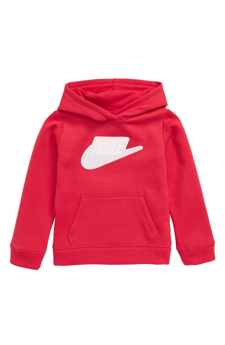 NIKE Sportswear Futura Fleece Hoodie, Main, color, RUSH PINK