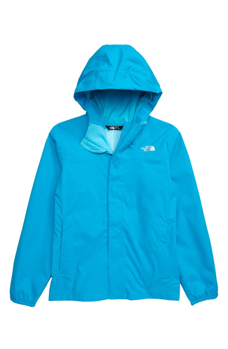THE NORTH FACE Resolve Reflective Waterproof Jacket, Main, color, ACOUSTIC BLUE