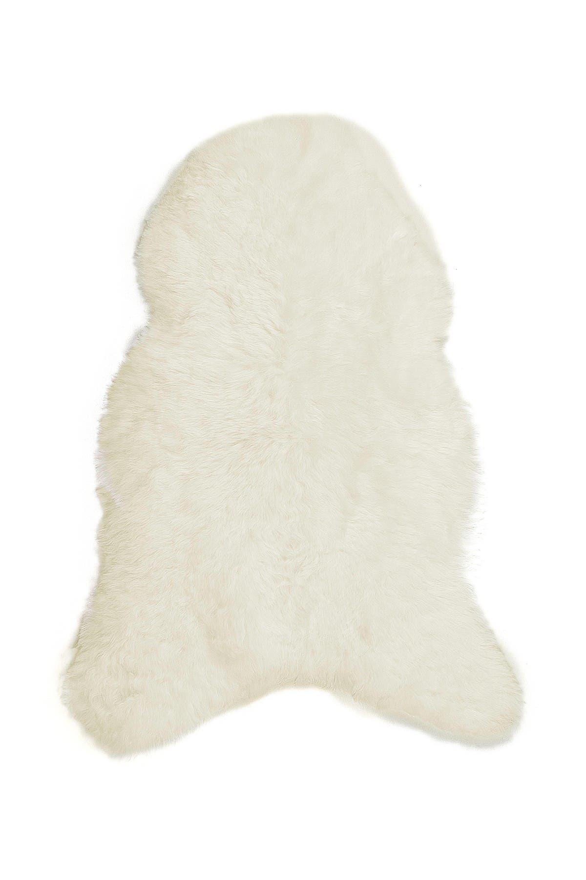 Image of Natural Icelandic Genuine Sheepskin Single Sheared Rug - White