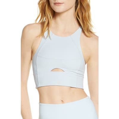 Free People Roll With The Punches Brami Sports Bra, Blue