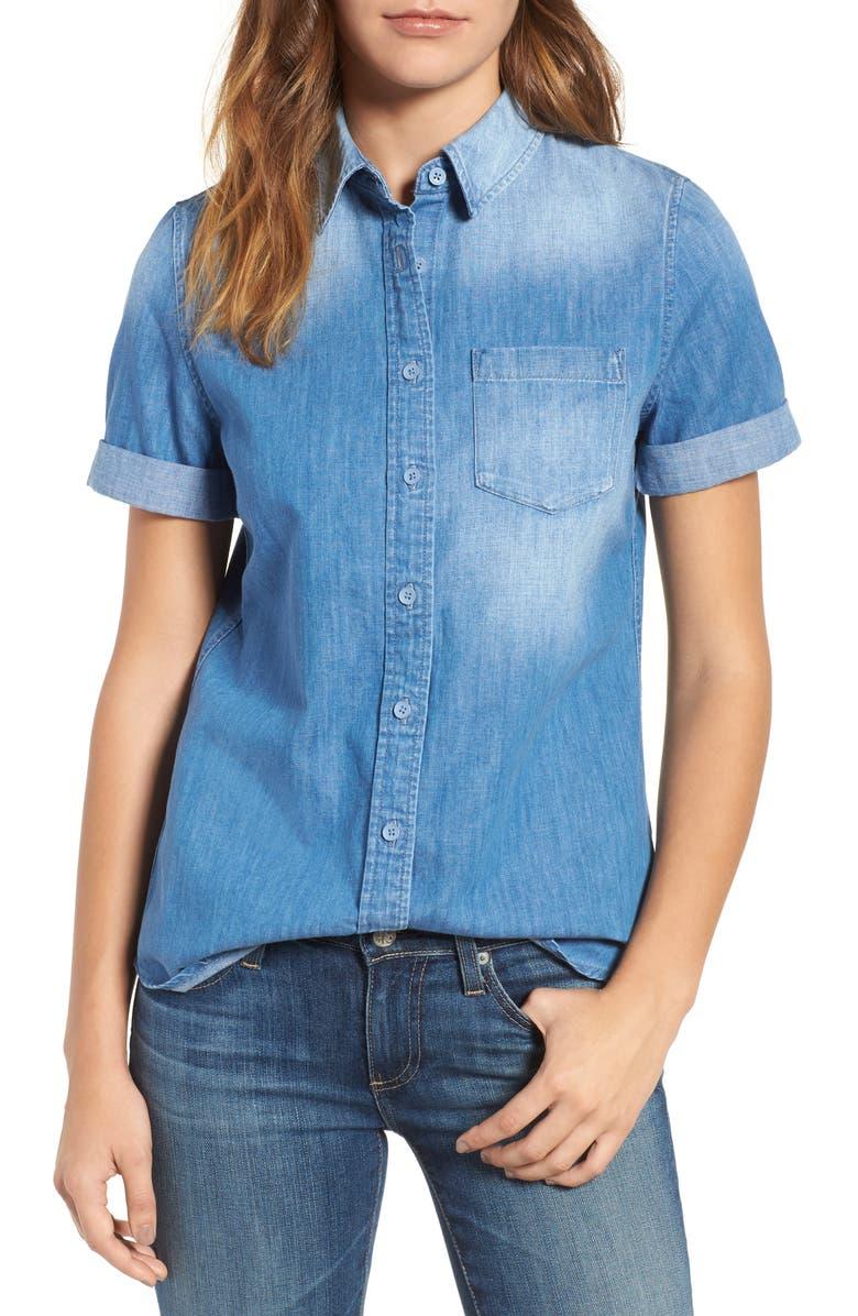 AG Easton Denim Shirt, Main, color, 407