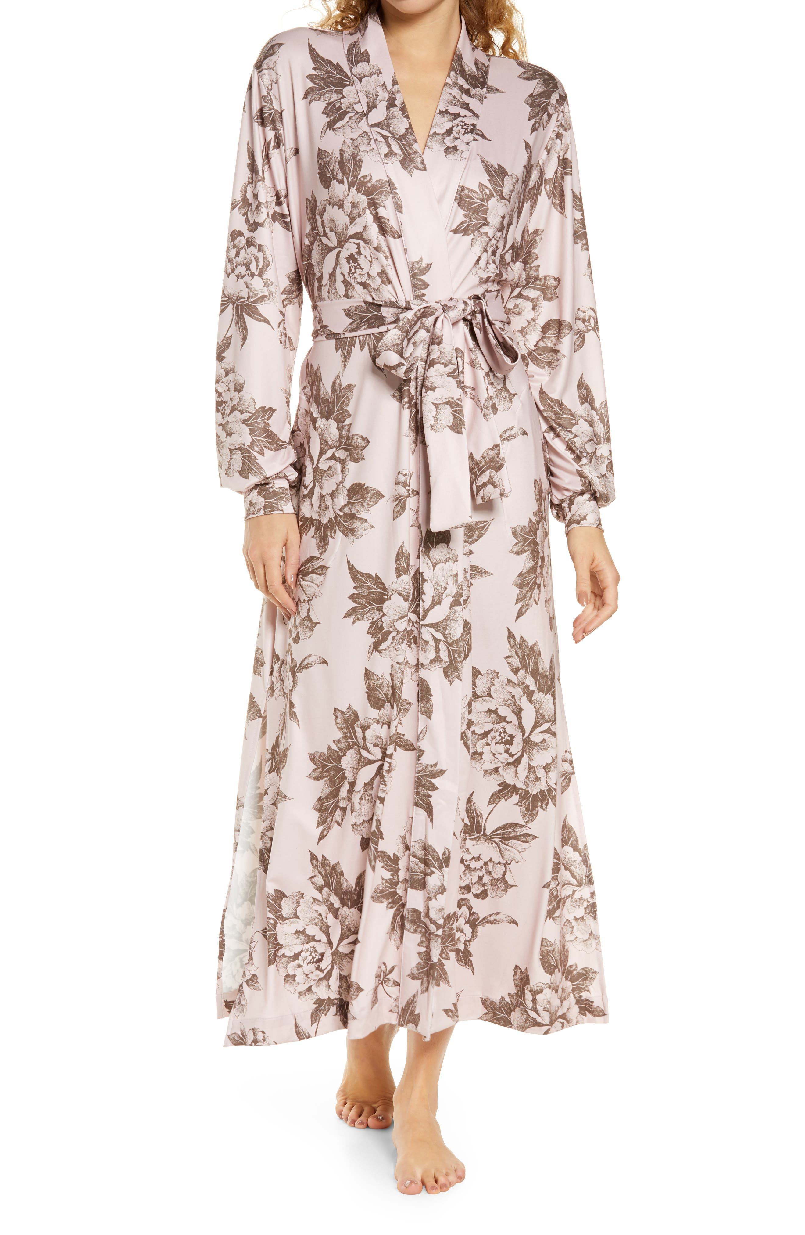 Women's Masongrey Floral Print Long Robe