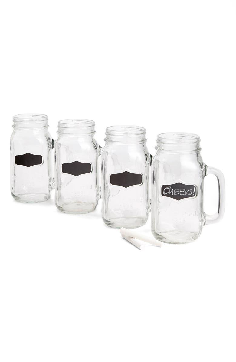 CIRCLE GLASS 'Yorkshire' Mason Jar Mugs, Main, color, 000