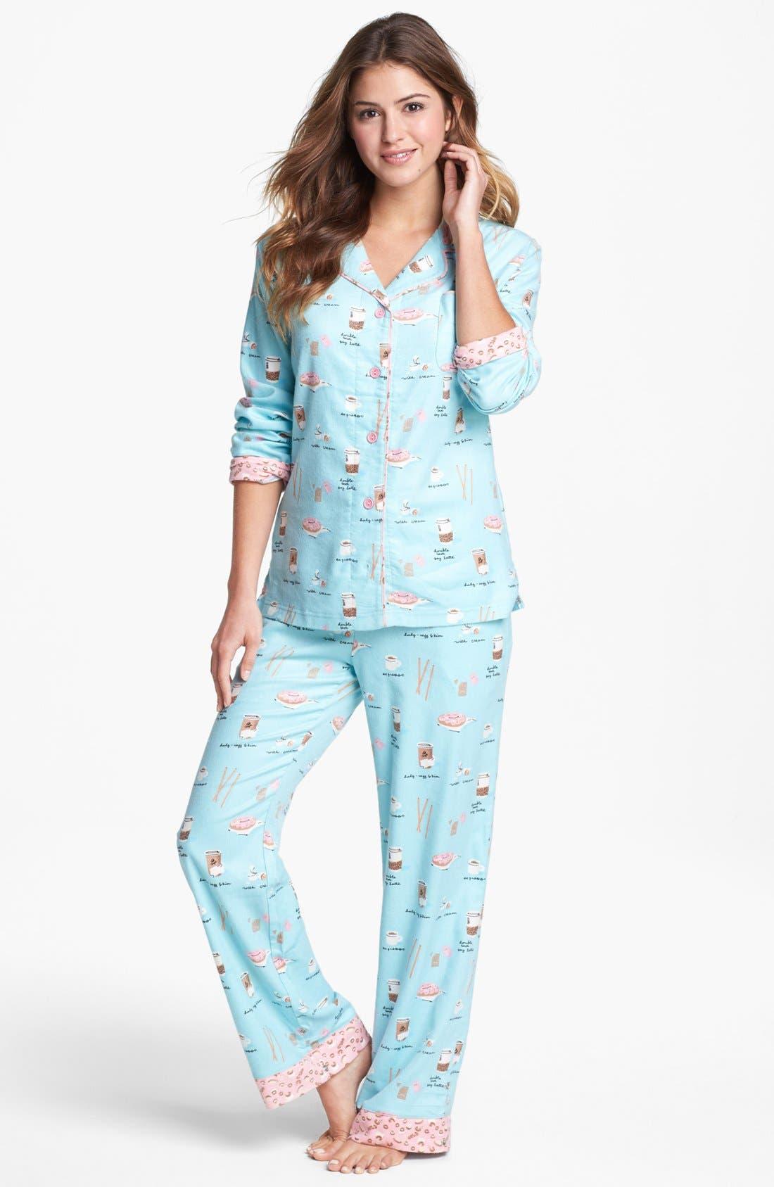,                             Flannel Pajamas,                             Main thumbnail 48, color,                             452