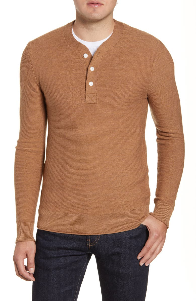 BONOBOS Merino Wool Knit Henley, Main, color, 250
