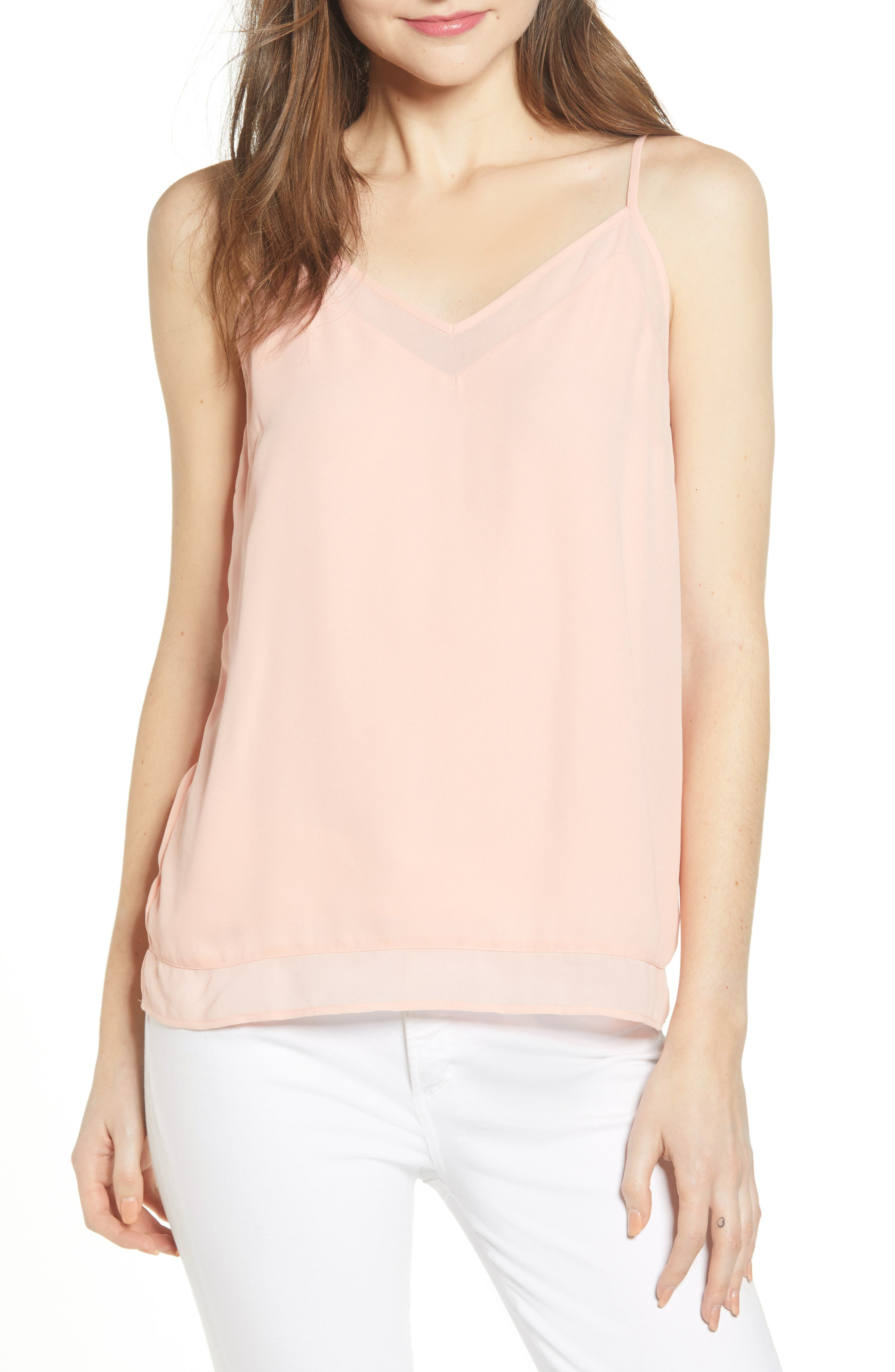 Chelsea28 Illusion Camisole, Pink