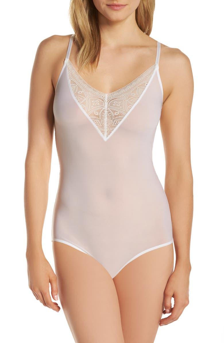 HANRO Moa Bodysuit, Main, color, OFF WHITE 102