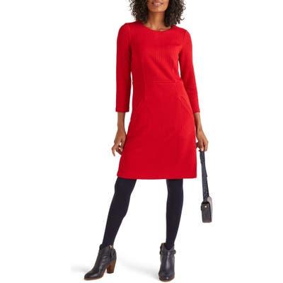 Boden Agnes Textured Jersey Dress, Red