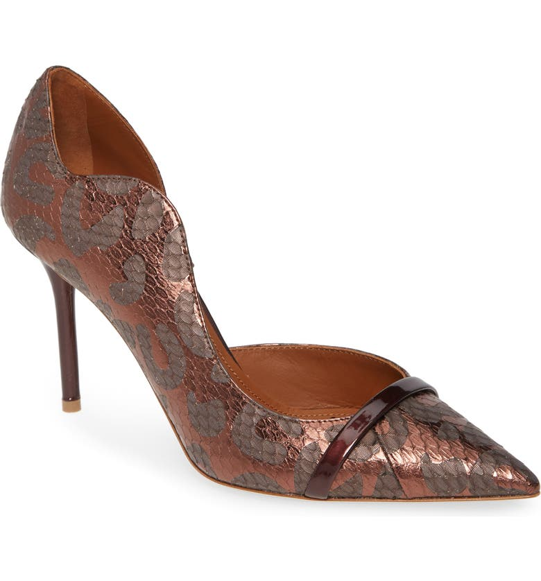 MALONE SOULIERS Morrisey Wave Half d'Orsay Pump, Main, color, BROWN LEOPARD