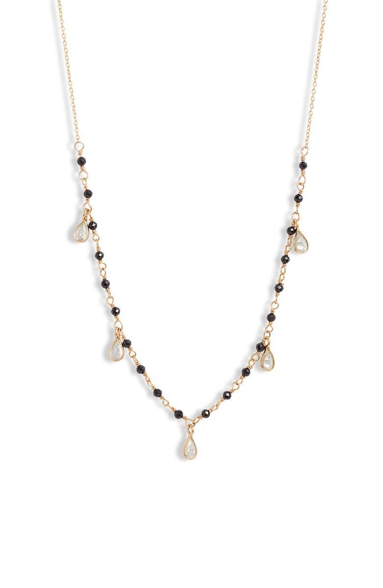 SET & STONES Walker Beaded Necklace, Main, color, GOLD