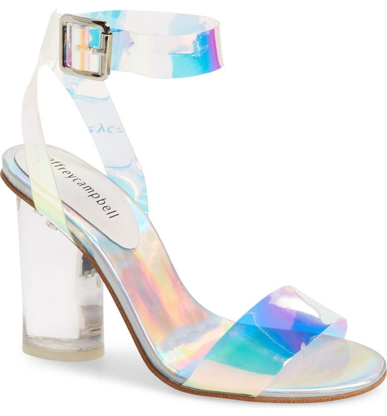 JEFFREY CAMPBELL Clear Heel Sandal, Main, color, 043