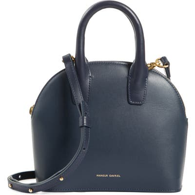 Mansur Gavriel Mini Top Handle Rounded Leather Bag -