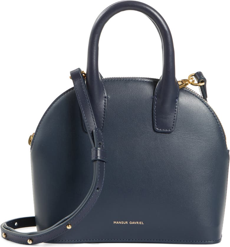 Mini Top Handle Rounded Leather Bag