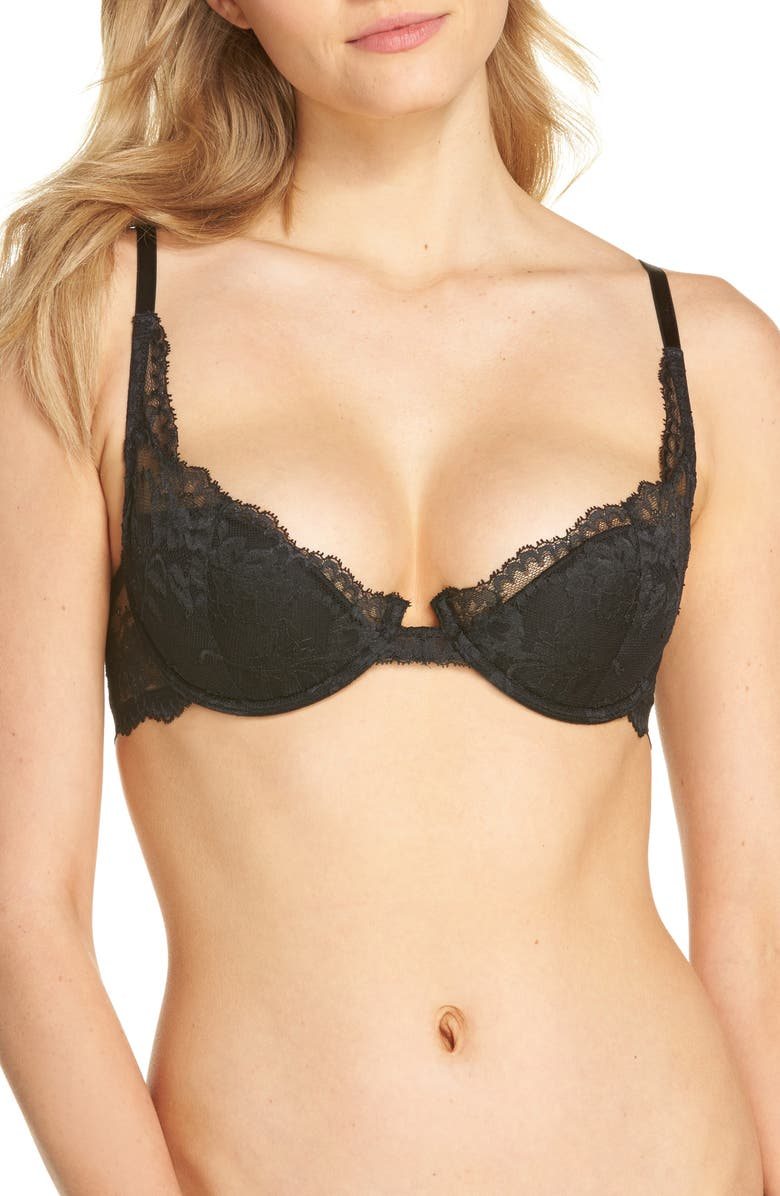 NATORI Devotion Contour Underwire Demi Bra, Main, color, BLACK/ COAL