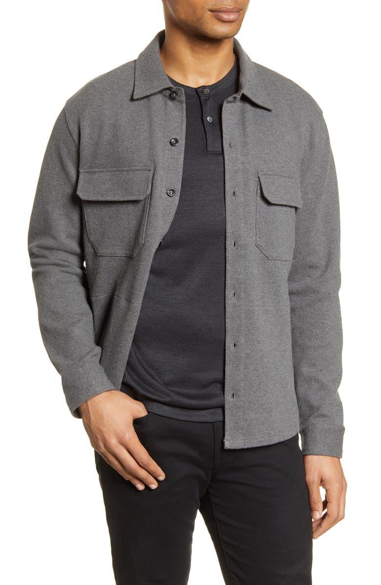 VINCE Slim Fit Shirt Jacket, Main, color, 033