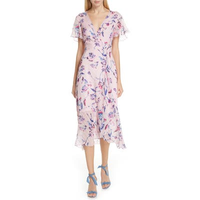 Tanya Taylor New Blaire Floral Silk & Cotton Dress, Pink