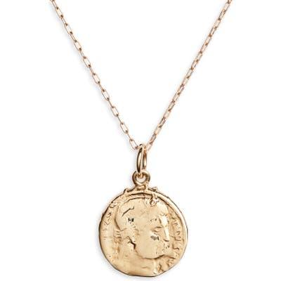 Bracha Mini French Coin Pendant Necklace