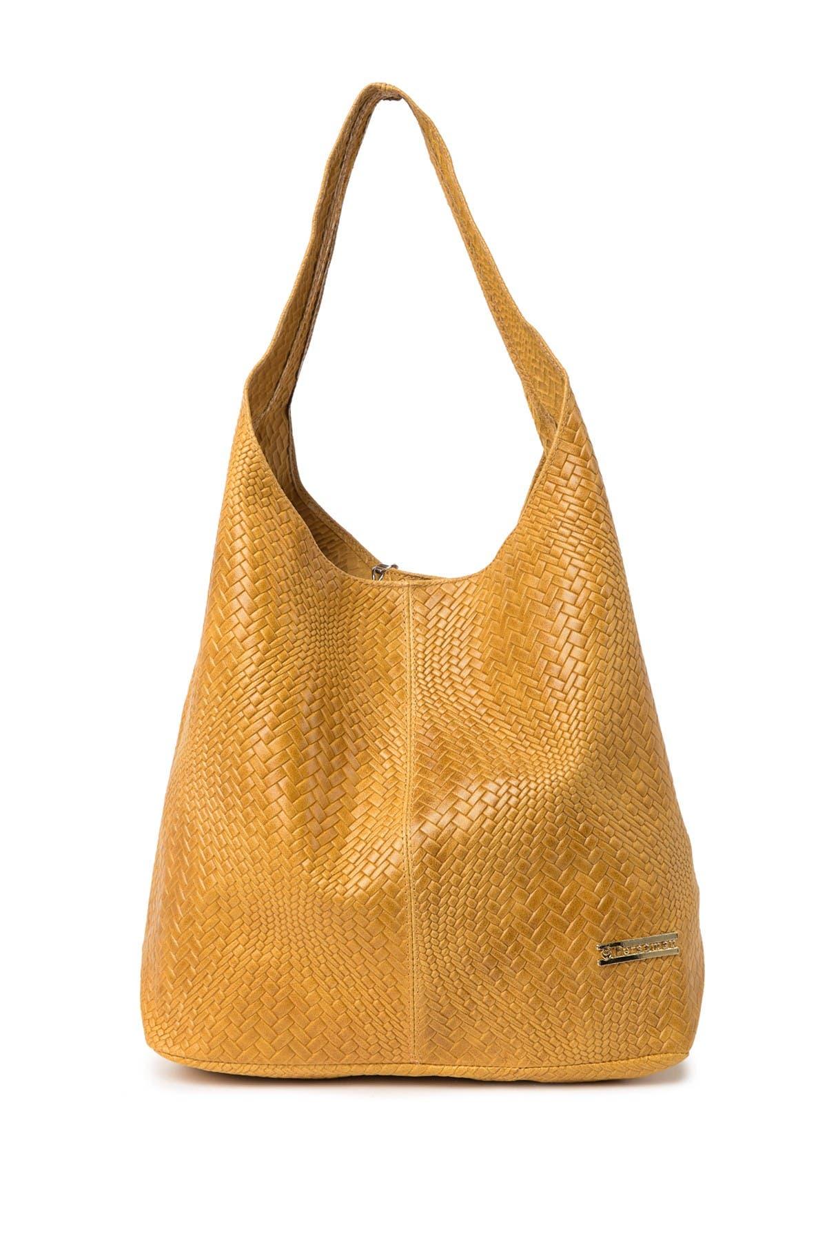 Image of Persaman New York Camilla Embossed Leather Hobo Bag