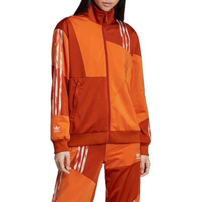 Adidas Originals Danielle Cathari Firebird Recycled Tricot Track Jacket, Orange