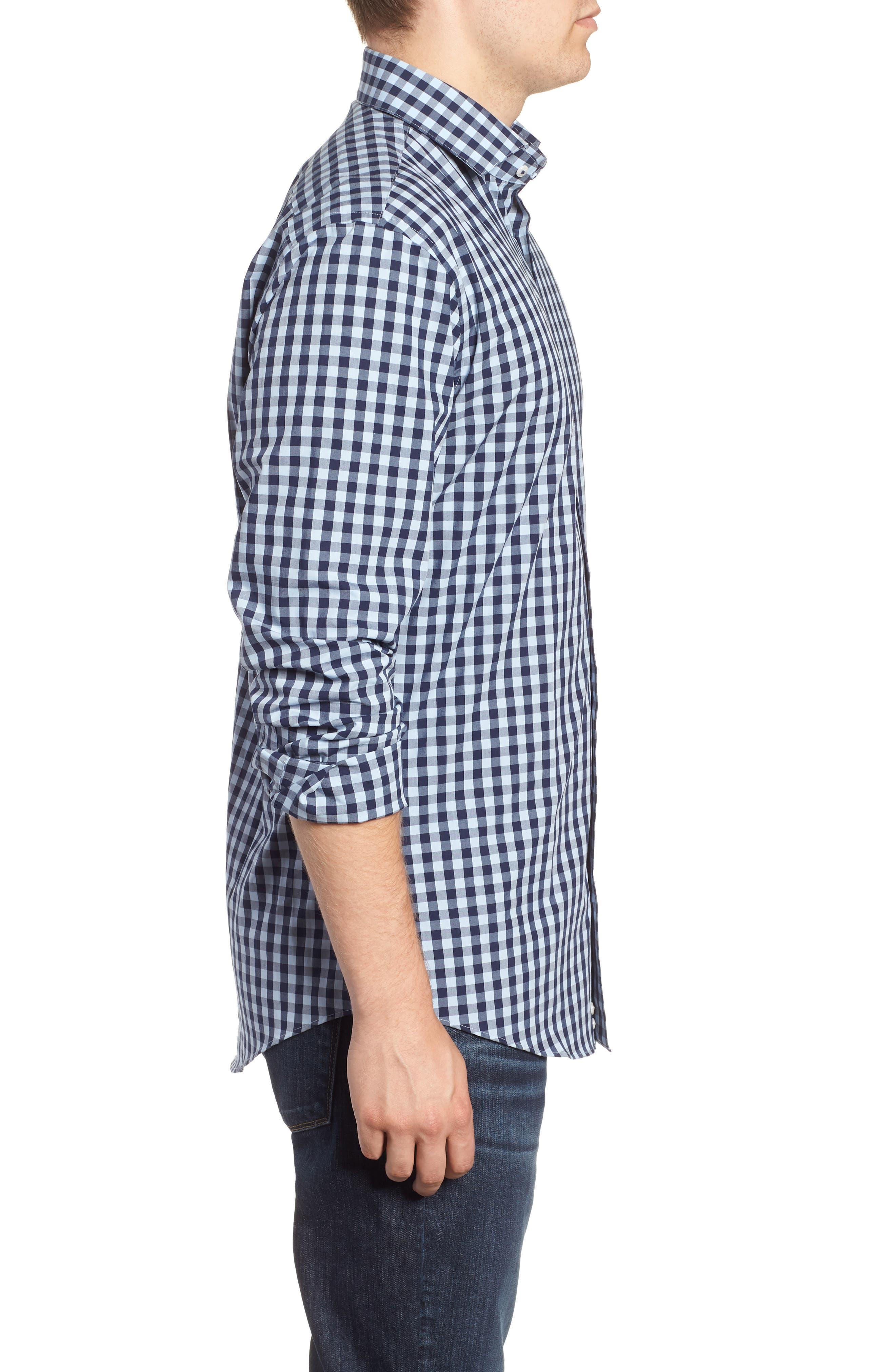 ,                             Tech-Smart Trim Fit Stretch Check Dress Shirt,                             Alternate thumbnail 24, color,                             415