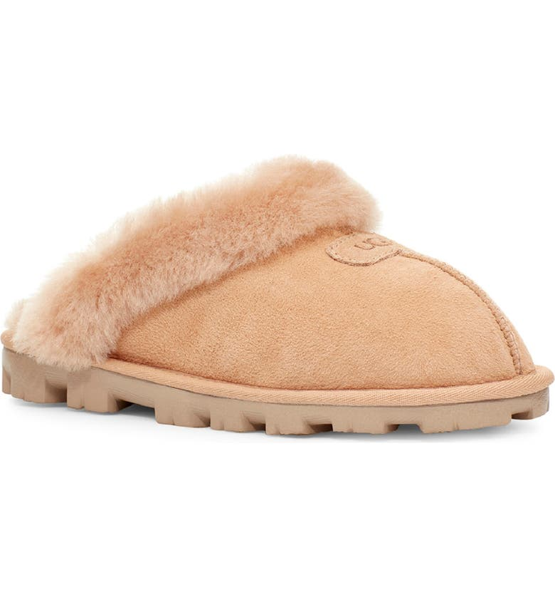 UGG<SUP>®</SUP> Genuine Shearling Slipper, Main, color, BRONZER