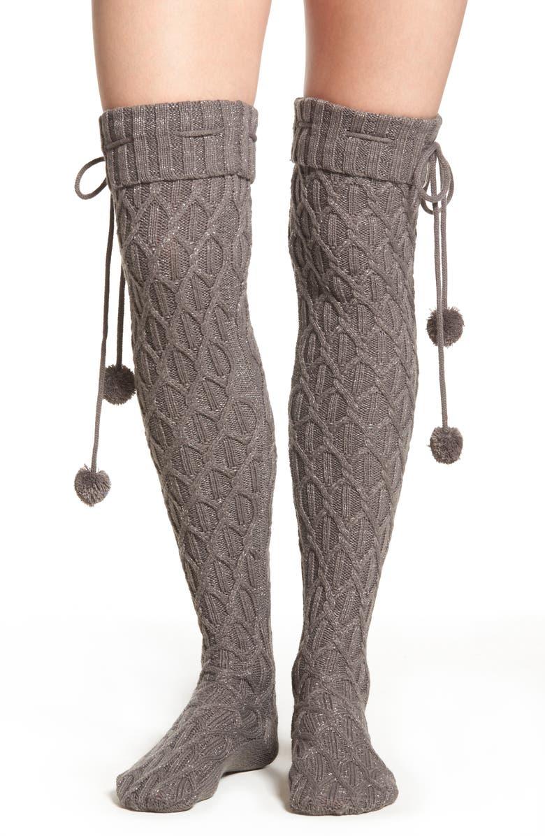 Ugg 174 Sparkle Cable Knit Over The Knee Socks Nordstrom