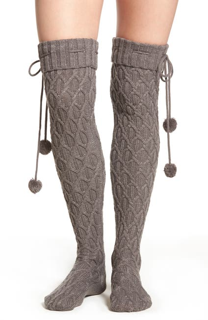 Image of UGG Sparkle Cable Knit Over the Knee Socks