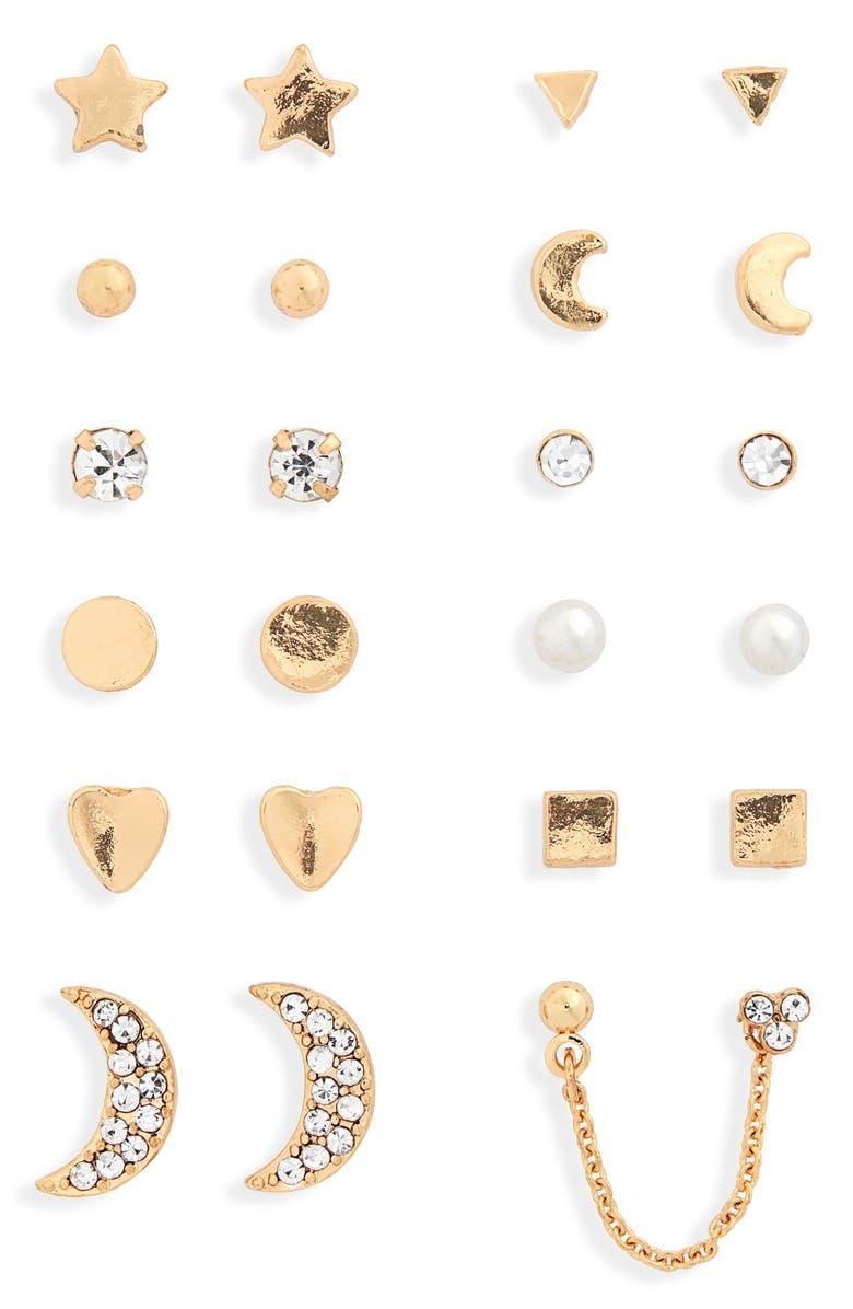 BP. Set of 12 Stud Earrings, Main, color, 710