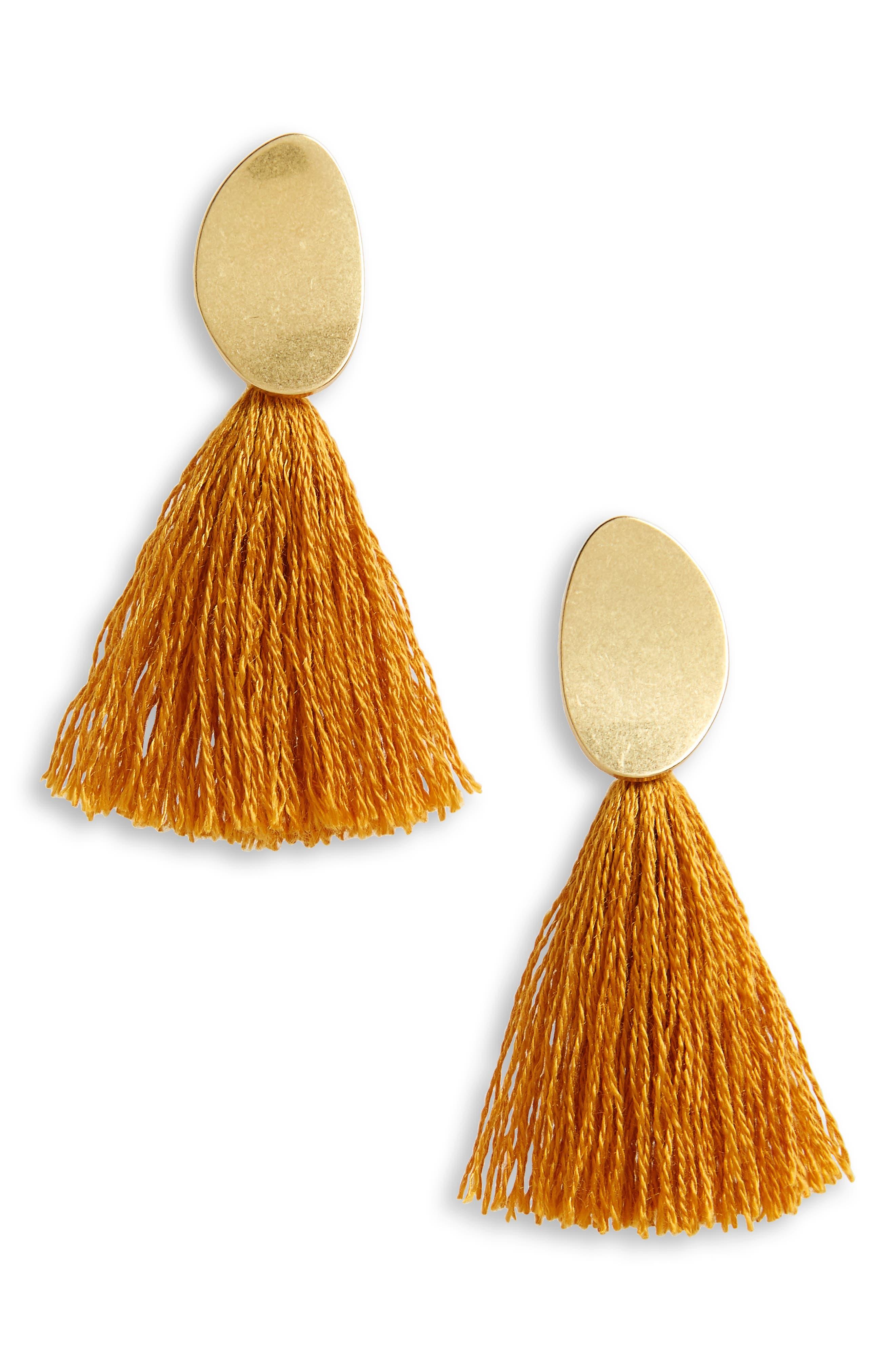 ,                             Curved Tassel Earrings,                             Main thumbnail 16, color,                             710