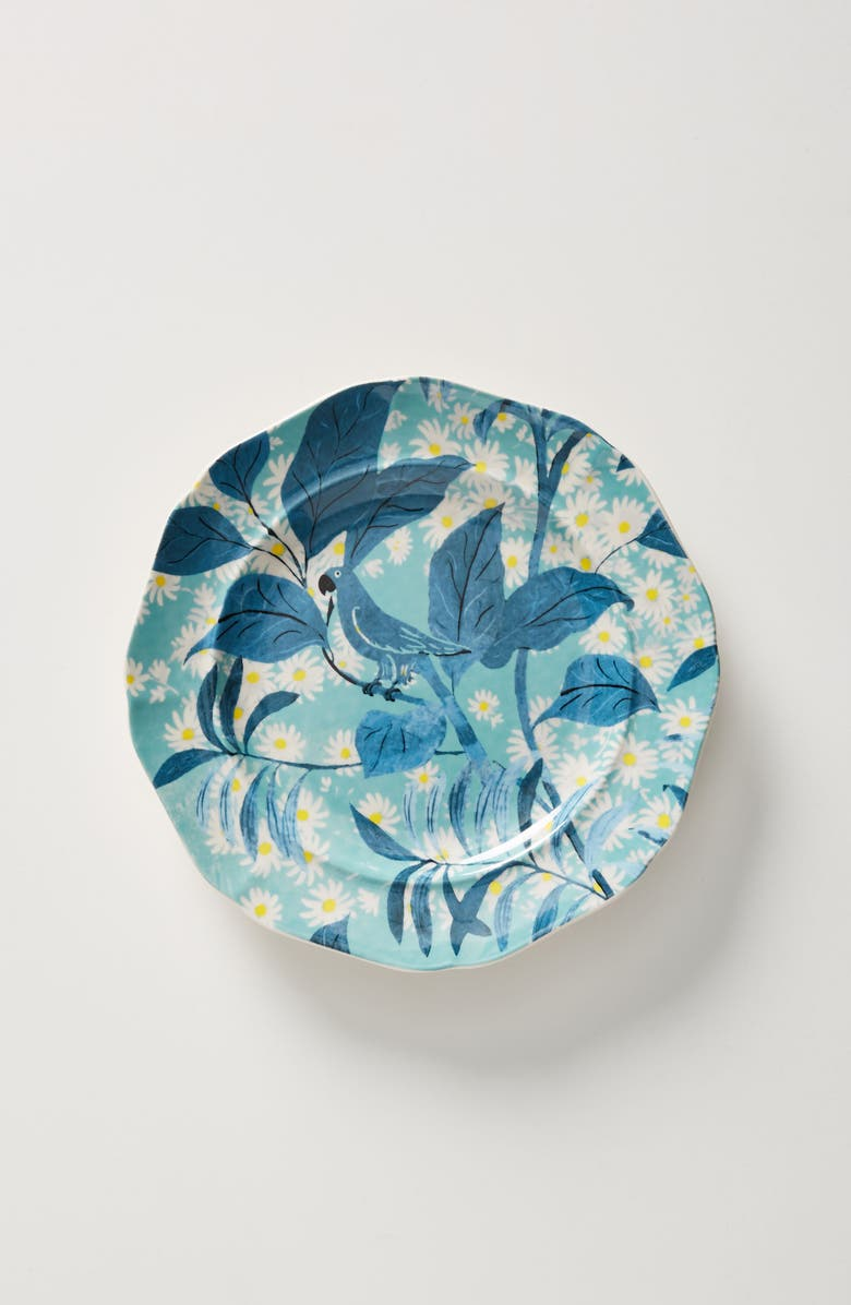 ANTHROPOLOGIE Paule Marrot Set of 4 Side Plates, Main, color, BLUE
