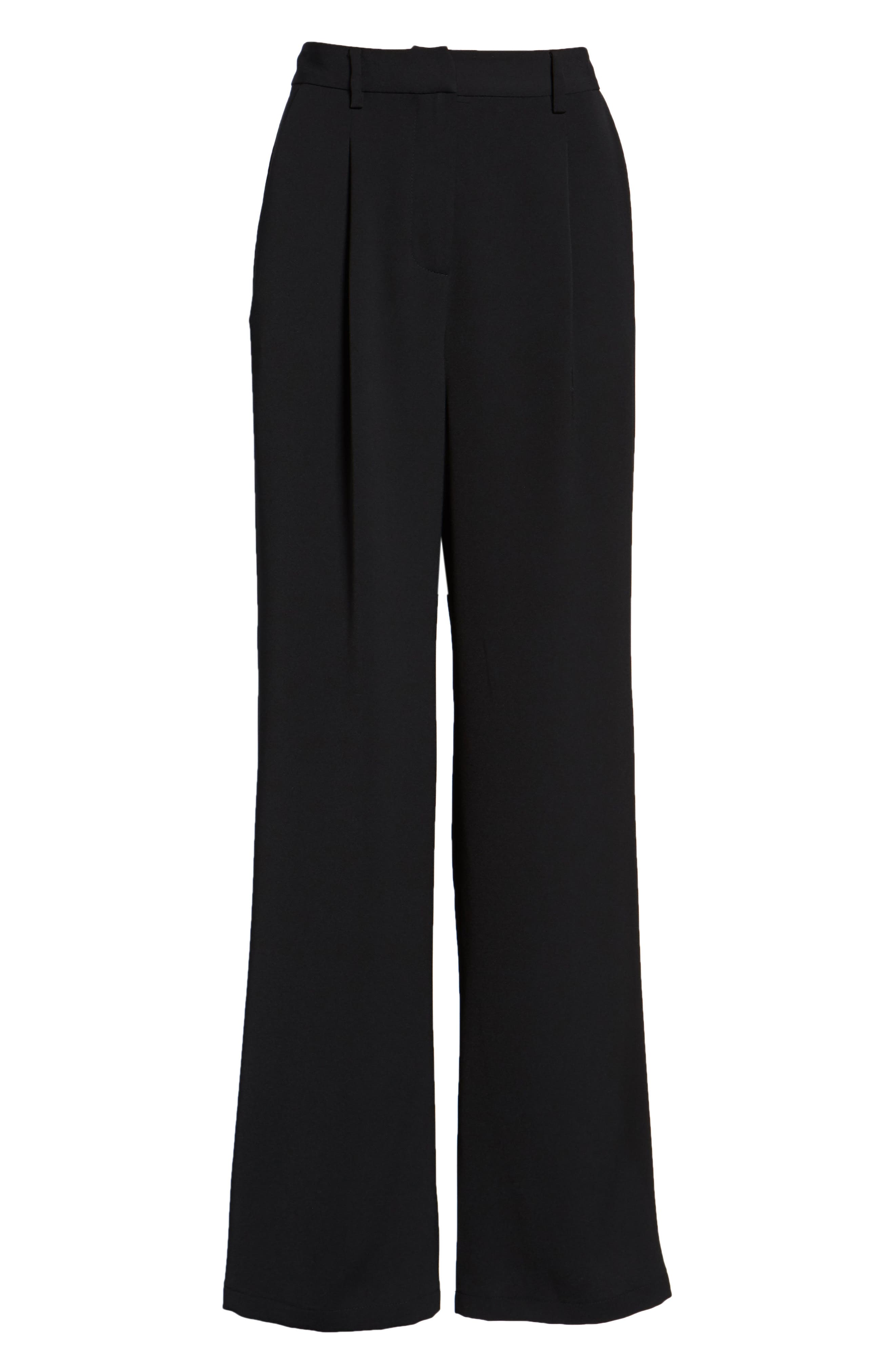 ,                             High Waist Flare Pants,                             Alternate thumbnail 9, color,                             001