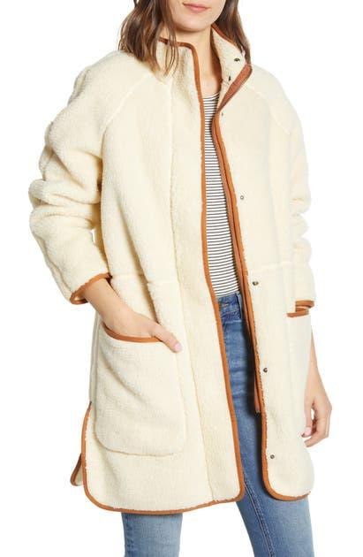 Madewell Coats ESTATE FAUX SHEARLING COAT