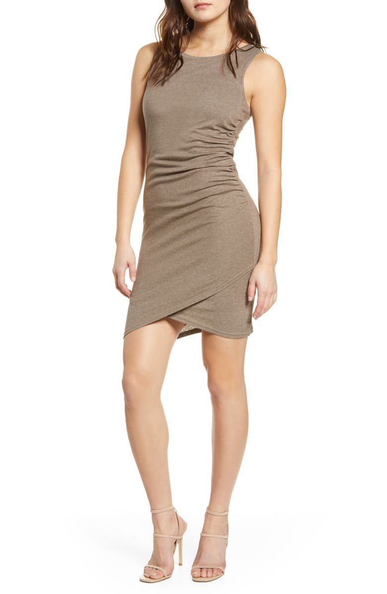 LEITH Ruched Body-Con Tank Dress, Main, color, 260