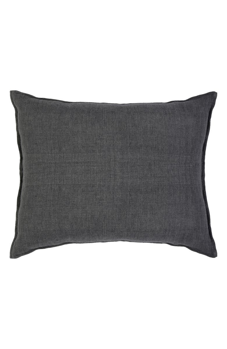 POM POM AT HOME Montauk Accent Pillow, Main, color, CHARCOAL