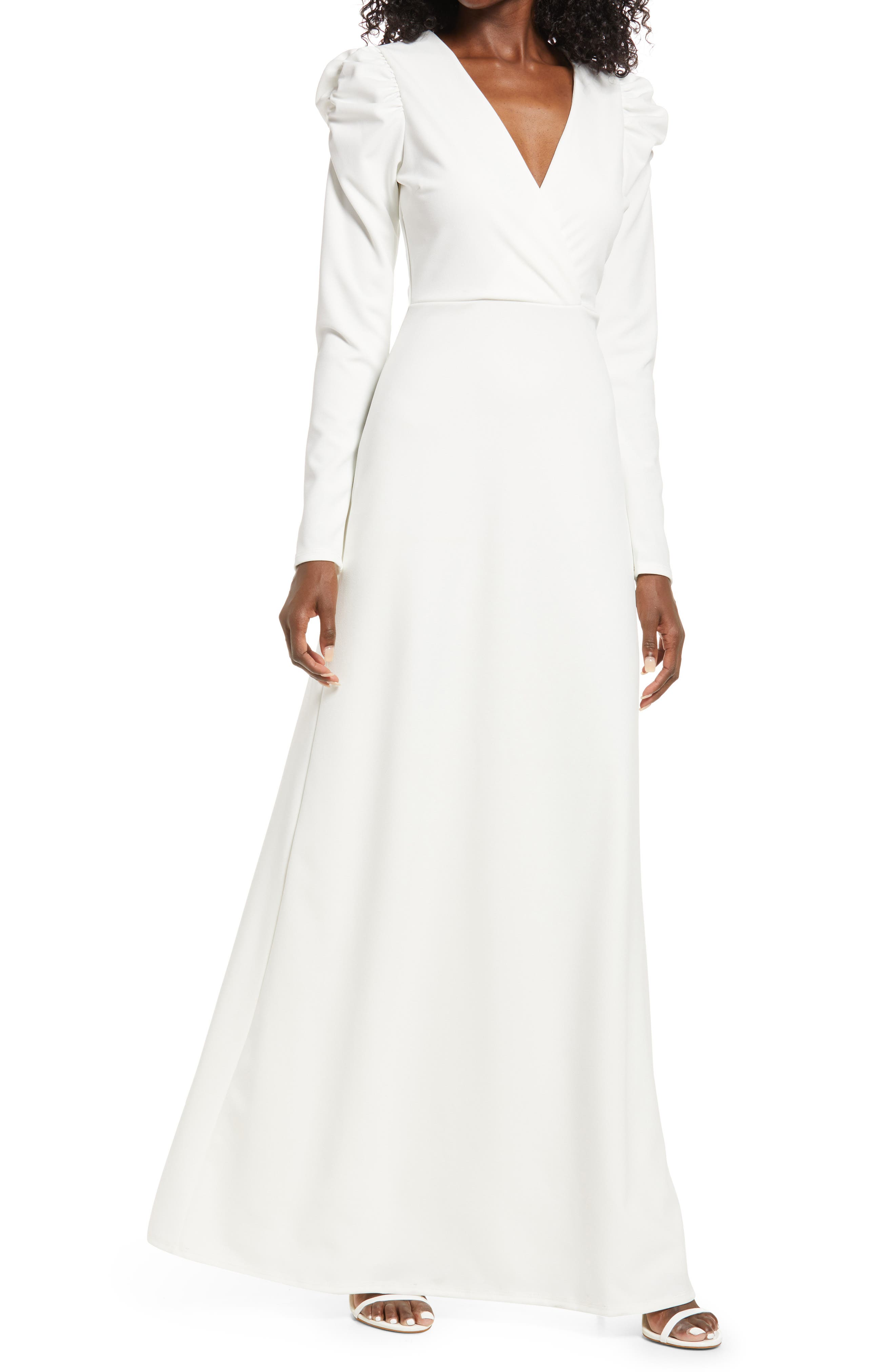 With A Passion Long Sleeve Gown