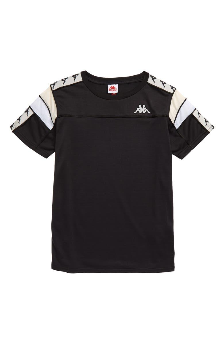 KAPPA 222 Banda T-Shirt, Main, color, BLACK/ GREY/ BEIGE