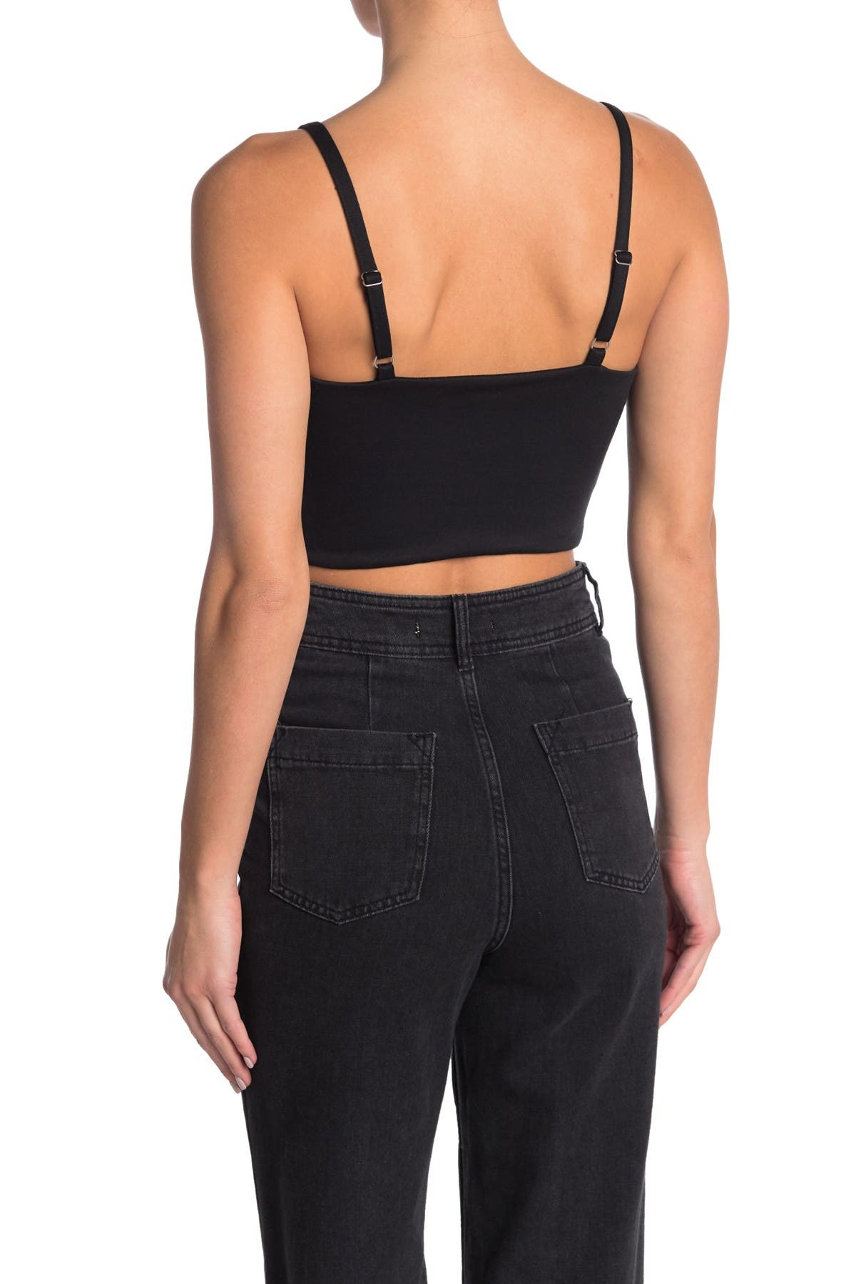 Image of MATERIAL GIRL Ponte Cropped Top