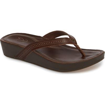 Olukai Ola Flip Flop, Brown