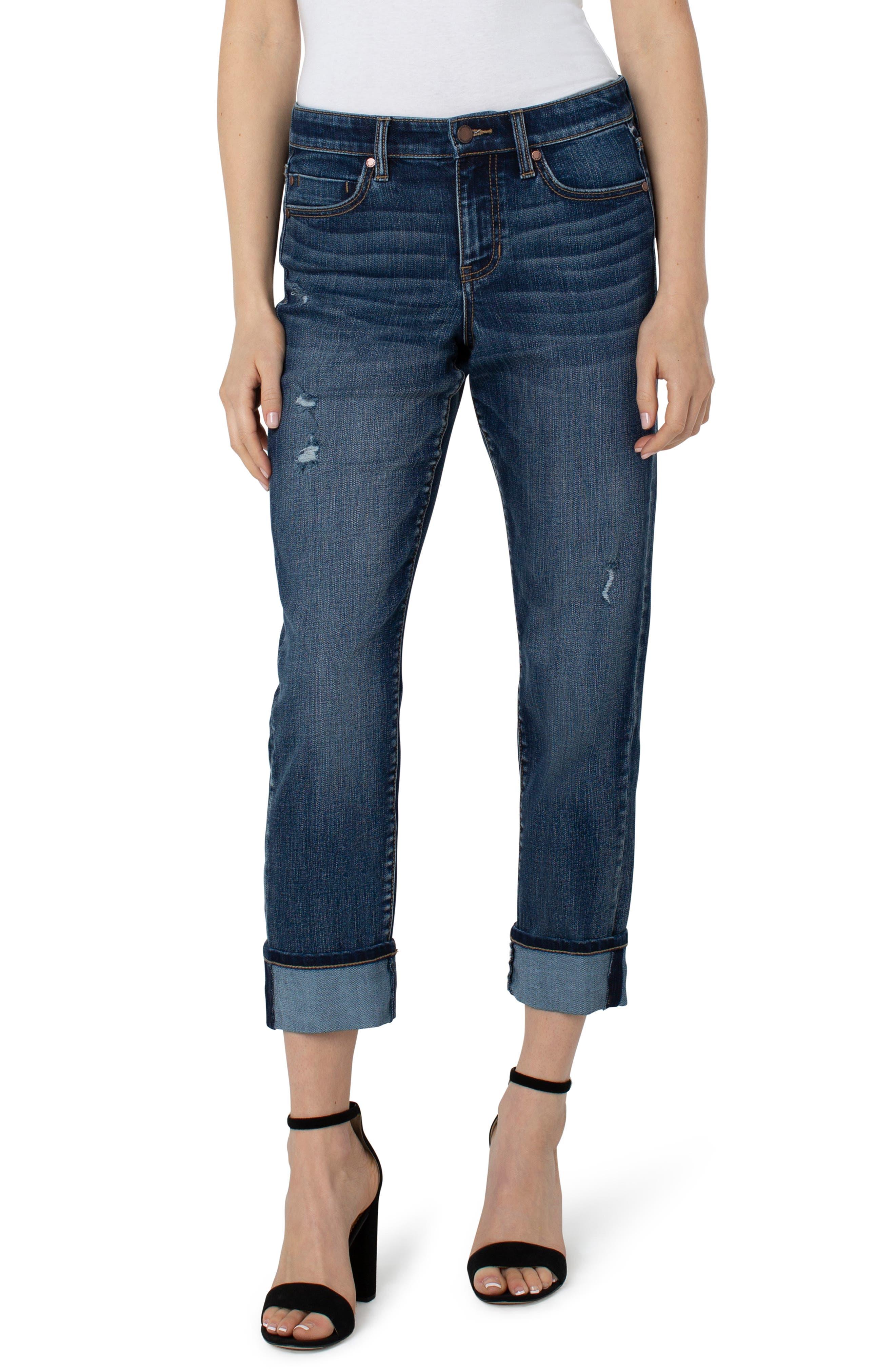 Marley High Waist Ankle Girlfriend Jeans