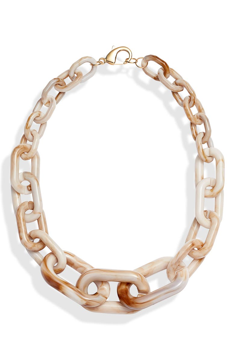 KNOTTY Chain Necklace, Main, color, BLUSH MARBLE