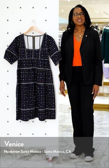 Devi Floral Tiered Denim Babydoll Dress, sales video thumbnail
