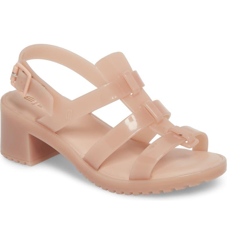 MINI MELISSA 'Flox' Sandal, Main, color, LIGHT PINK MATTE