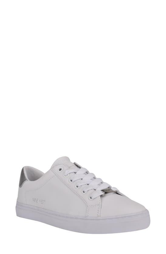 Nine West Women's Best Casual Sneakers Women's Shoes In White/ Silver