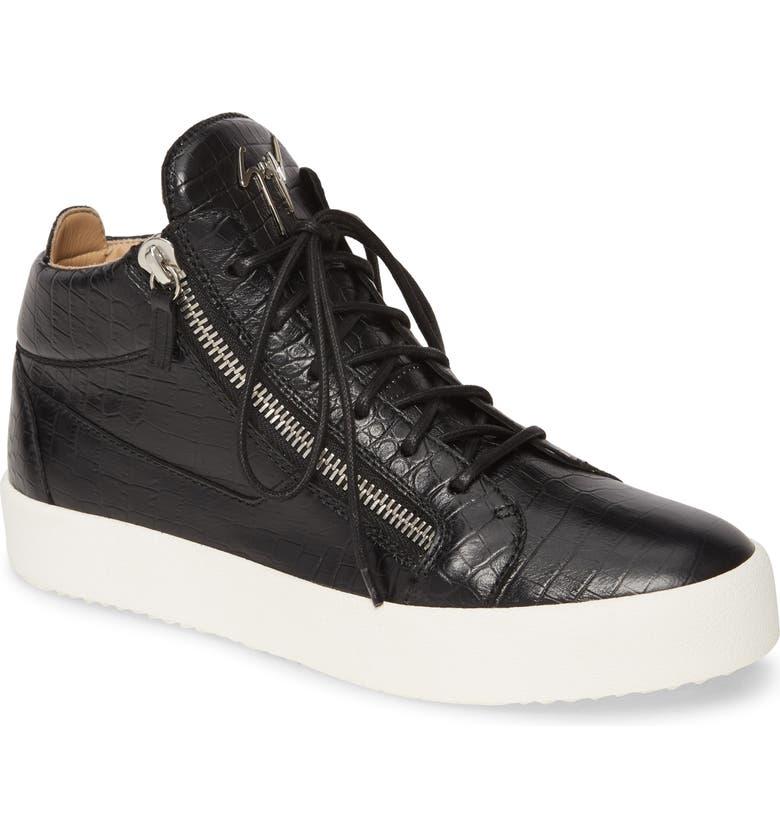 GIUSEPPE ZANOTTI Mid-Top Sneaker, Main, color, NERO