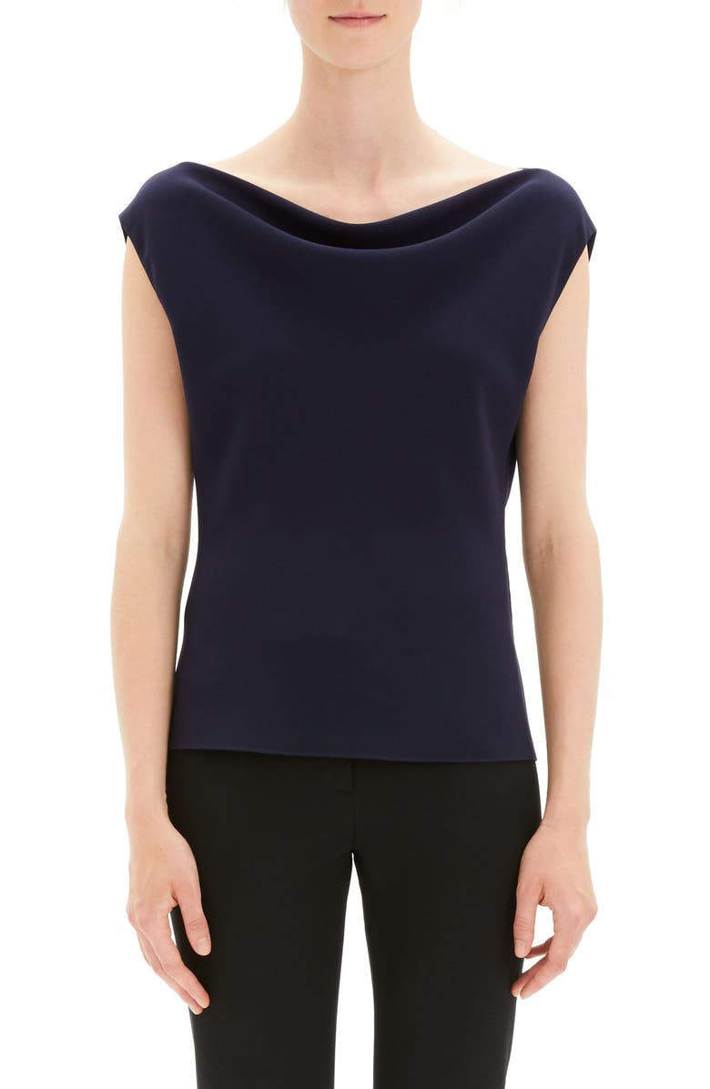1a08ecf406 Theory Draped Boat Neck Top | Nordstrom