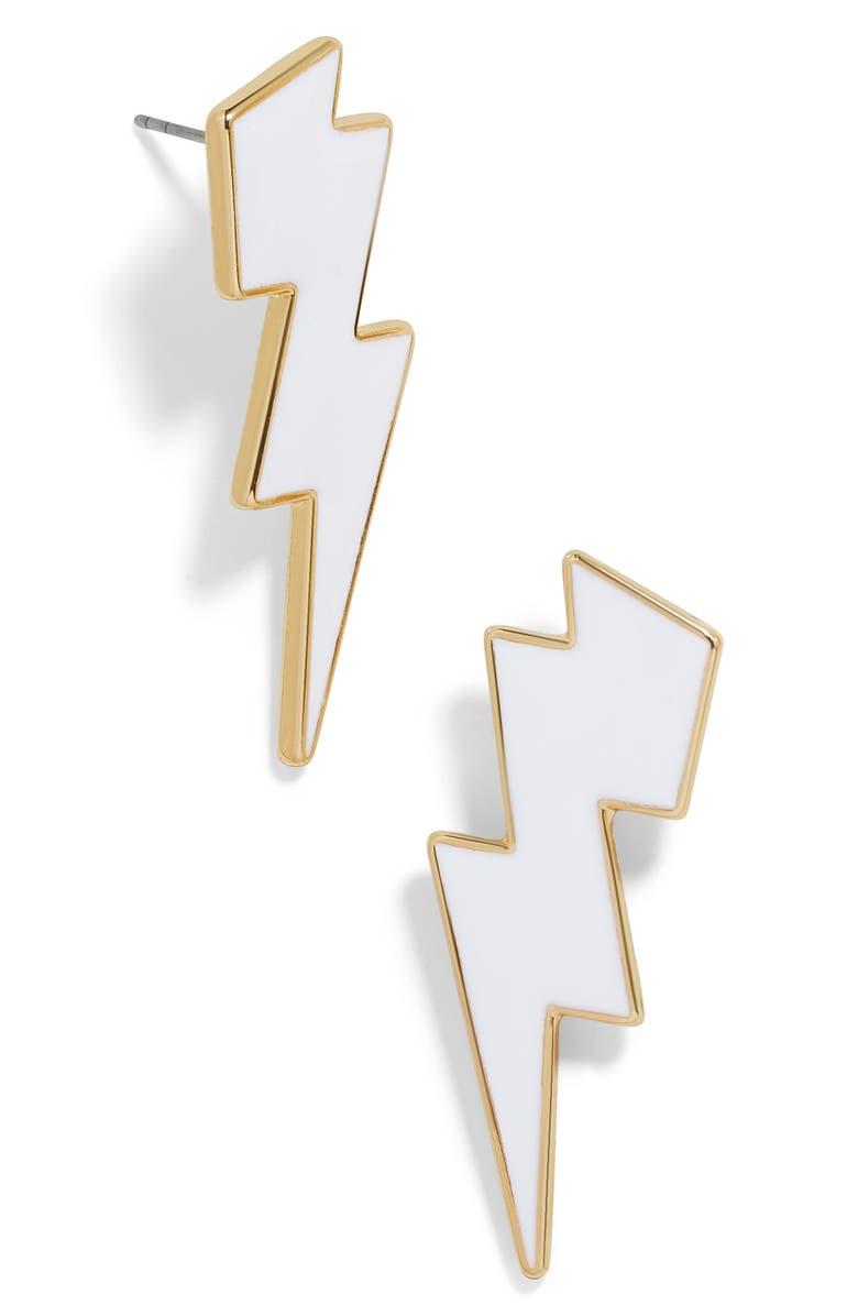 BAUBLEBAR Lightning Bolt Earrings, Main, color, 100