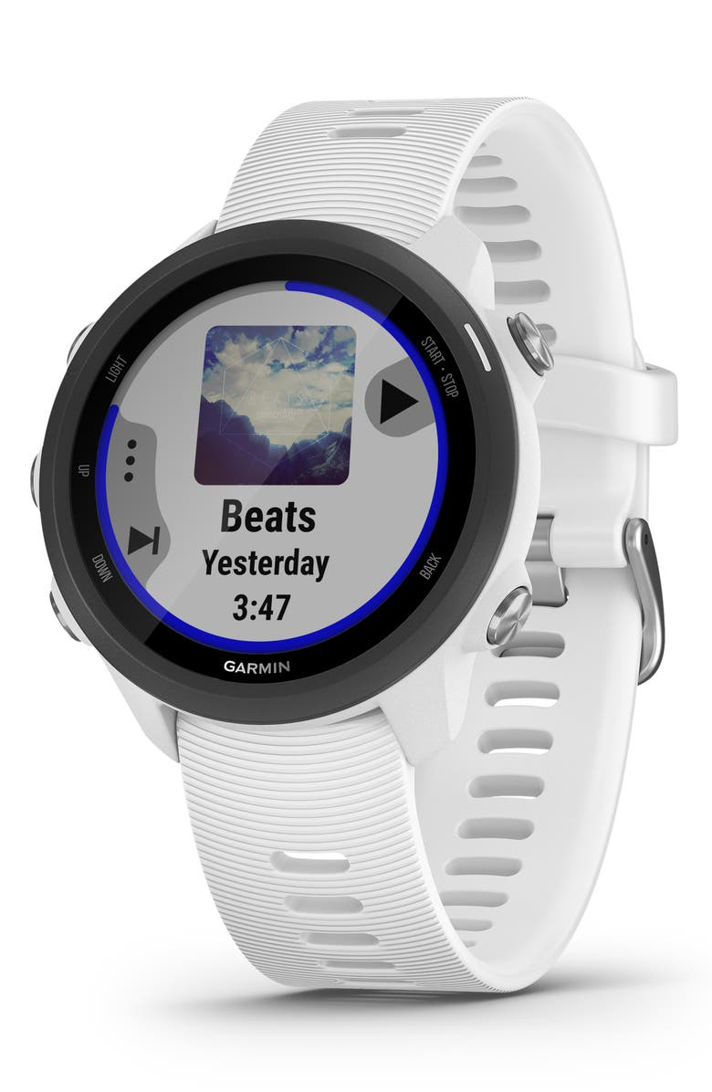 GARMIN Forerunner<sup>®</sup> 245 Music GPS Running Smart Watch, 42mm, Main, color, WHITE
